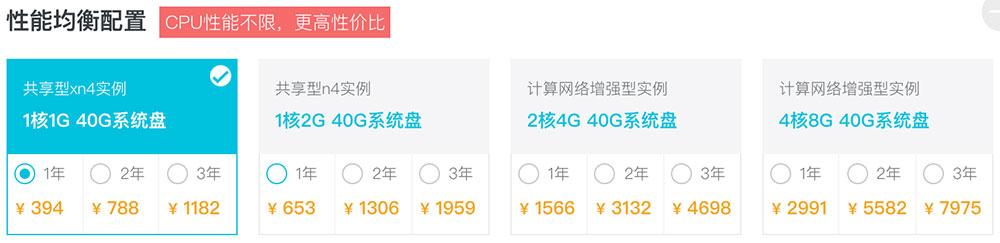 阿里云服务器2折优惠性能配置及价格对比