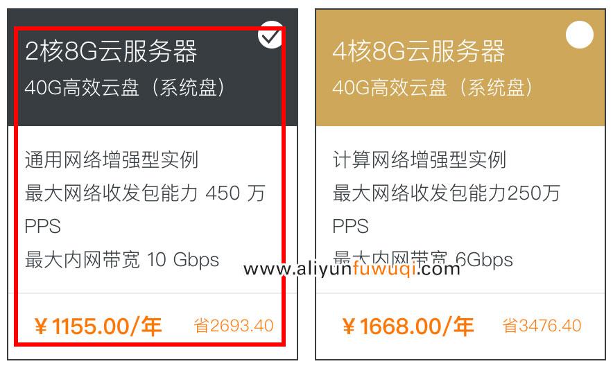 阿里云2核8G云服务器规格详解及优惠价格表