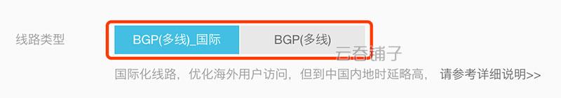 阿里云香港地域弹性公网IP线路类型BGP(多线)_国际和BGP(多线)的区别